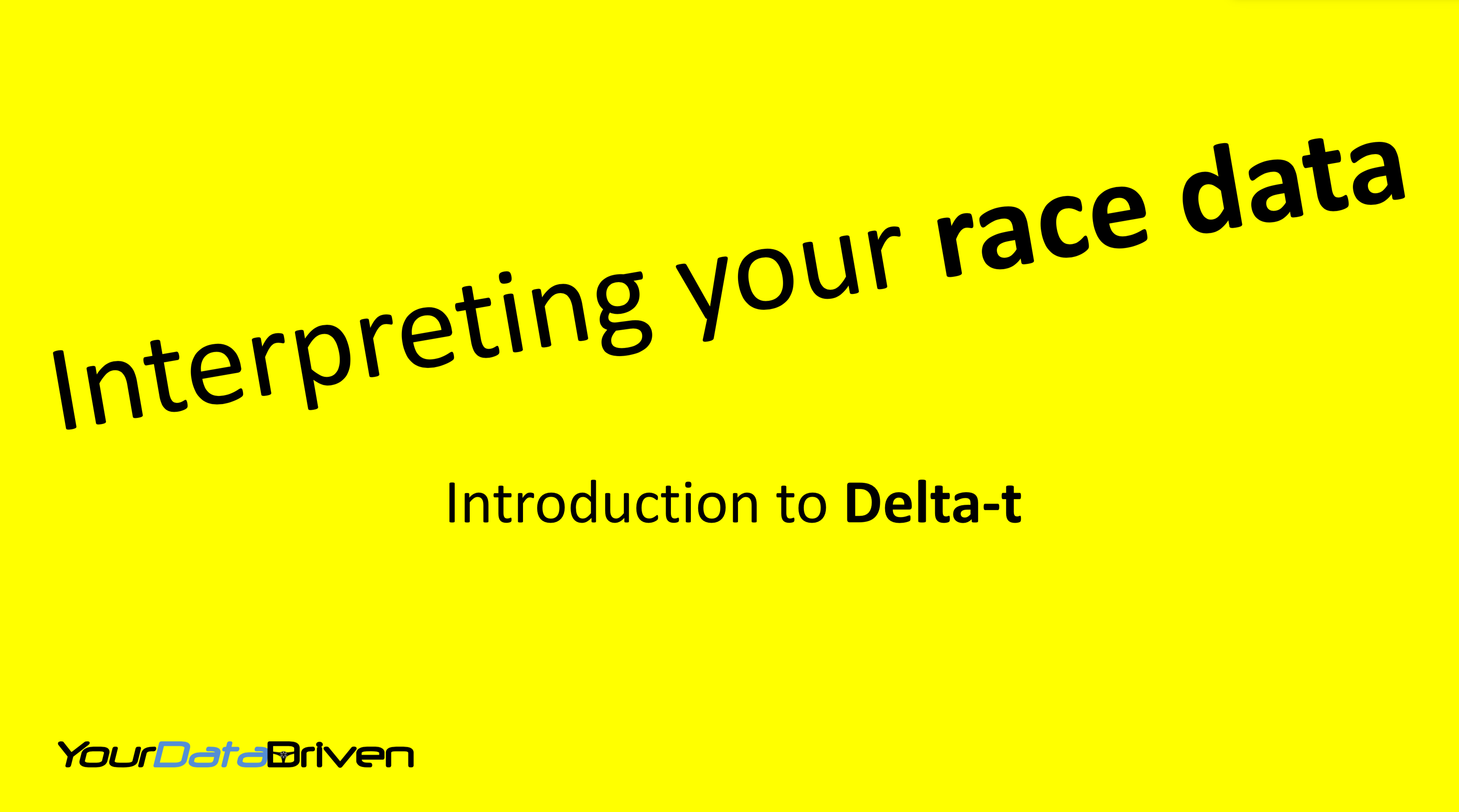 Introduction to motorsports data analysis Delta-t