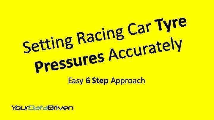 Procedure for setting racing car tyre pressures